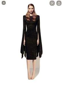 Alex Perry Black Crystal Dress