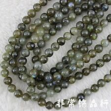 8mm Round Labradorite Beads Loose Gemstone Beads for Jewelry Making Strand 15""