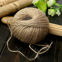 30M Shabby Natural Brown Jute Twine Rustic String Cord Wrap Craft Making Decors