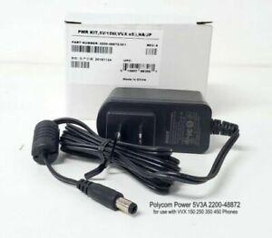 Genuine Polycom VVX 150, 250, 350, 450 Power Supply (2200-48872-001)- Brand New