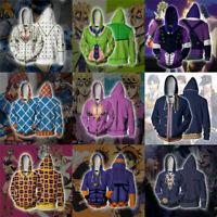 JoJo's Bizarre Adventure Hoodie Zipper Coat Jacket 3D GUIDO MISTA Sweatshirt