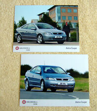 Vauxhall Astra Coupe Turbo Press Photos x 2, 2003