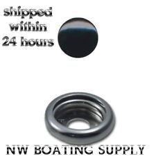 CANVAS SNAPS BLACK BUTTON SNAP STAINLESS STEEL SOCKET 25 SETS MARINE GRADE