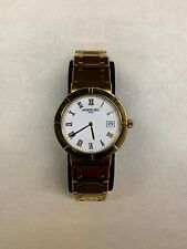 RARE NOS Raymond Weil Parsifal Gold Plated Men's Watch - Box Included