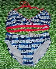Girls CIRCO Tie Dye Blue Pink Halter Bikini Swim Wear XL 14/16 Swimming Suit NEW