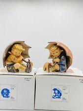 "Goebel Hummel Umbrella Boy And Umbrella Girl 5"" 152/0 A & B With Boxes PERFECT!"
