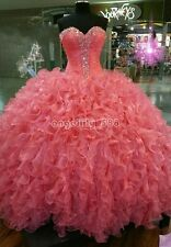 Elegant Pink Ball Gown Quinceanera Dresses For 15 Years Prom Party Dress 2017