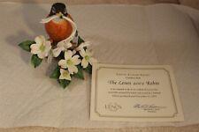 "Lenox 2001 Robin Fine Porcelain Bird Limited Edition Figurine 5"" Tall - No Box"