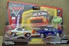 DISNEY CARS 2  MOVIE MOMENTS DARRELL CARTRIP & BRENT MUSTANGBURGER  *NEW*