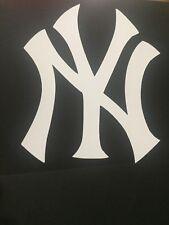 NEW YORK YANKEES MLB WHITE VINYL STICKER / DECAL