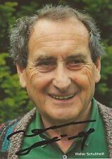 Autogramm Walter Schultheiß Bienzle Tatort von 95-07 Schauspieler  RÜDEL grün #