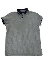 ARMANI JEANS MEN'S T-SHIRT - GREY / NAVY - REGULAR FIT - SIZE XXL - USED