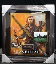 RARE! MEL GIBSON BRAVEHEART Collage Signed with Sword COA Millionaire Gallery