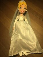 "Disney Store Cinderella Princess Plush Doll 16"" Beautiful Dress. Authentic."