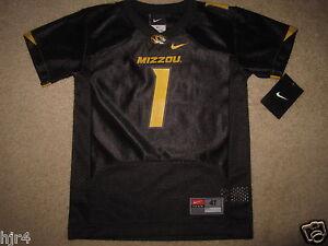 Missouri Tigers #1 Football Nike Black Jersey Toddler 4T New