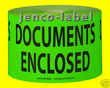 HE3502G, 500 3x5 Documents Enclosed Label/Sticker