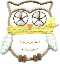 Wise Old Owl Children Babies Iron On Embroidered Patch Cute Critters