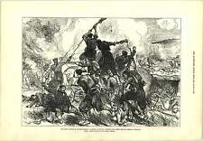 1877 la fanteria turca STORM trincee russe karahassankoi Incisione