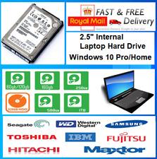 "2.5"" SATA Internal Laptop Hard Drive HDD Genuine Windows 10 Home/Pro"