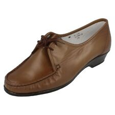 Ladeis brown leather SANDPIPER lace up shoes style ALYS UK 7.5