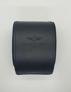 BREITLING TRAVEL BLACK PRE-OWED WATCH CASE VERY GOOD CONDITION