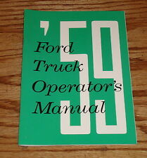 1959 Ford Truck Owners Operators Manual 59 Pickup
