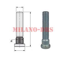 KIT 10 COLONNETTE PIANTAGGIO M12x1,50 L=67mm DIAMETRO 14,30mm Zigrino