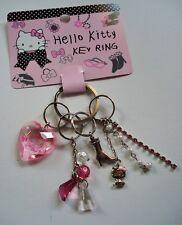 Hello Kitty Schlüsselanhänger Herz Strass Perlen Pink Original Sanrio NEU & OVP