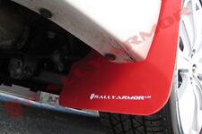 Rally Armor Mud Flaps Guards for 08-10 Impreza & WRX (Red w/White Logo)