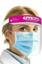 Face Shield Pink Full Face Visor Protection PPE Shield Clear Plastic Transparent