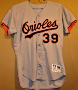 BALTIMORE ORIOLES #39 RANDY MILLIGAN GAME WORN GRAY MLB Russell Size 46 JERSEY