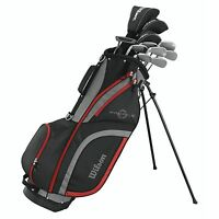 Wilson Profile XLS Men's RH Tall Graphite Steel Golf Club Stand Bag Package Set