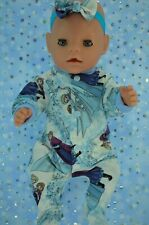 "Play n Wear Dolls Clothes For 17"" Baby Born PATTERNED STRETCH AND GROW~HEADBAND"