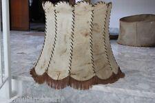 GRANDE COUVERCLE DE LA LAMPE VINTAGE EN VRAI CUIR H cm 48 - VIEUX ABAT-JOUR cuir