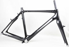 Cyclocross bike 58cm Carbon cyclo Frame Fork Cantilever brake Internal BSA Gloss