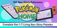 Non-Shiny Pokedex Pokemon Home-  Non-Shiny Living Pokedex Gen 1-7
