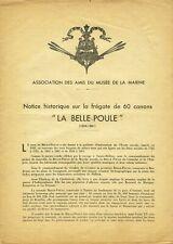 ENSEMBLE DE PLANS DE LA BELLE POULE AU 1/75 AMIS DU MUSÉE DE LA MARINE ANNÉES 40