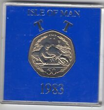 More details for 1983 50p coin iom isle of man tt ron haslem aa fifty pence in capsule iom238