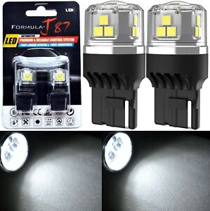 LED 15W 7441 White 5000K Two Bulbs Light Rear Turn Signal Replacement Stock Lamp