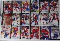 1994-95 Upper Deck UD Washington Capitals Team Set 18 Hockey Cards Missing Cote