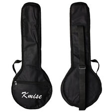 Kmise Black Banjo Gig Bag Soft Case Banjo Ukulele Uke Concert 23 Inch Size