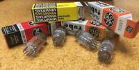 12AV7 type Electron Tubes (RCA, Sylvania, GE), Qty: 4