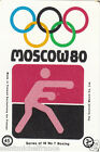 BOXE BOXING MOSCOU Moscow Olympic GAMES MATCHBOX LABEL 1980