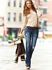 Victoria's Secret VS Love London Jeans Boot Cut CURVY Stretch Distressed Size 6