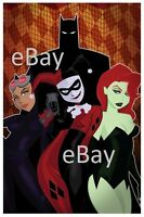 GOTHAM CITY SIRENS & BATMAN PRINT DC Harley Quinn Catwoman Poison Ivy