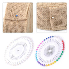 480Pcs Dressmaking Sewing Pin Straight Pins Round Head Color Pearl Corsage DIY