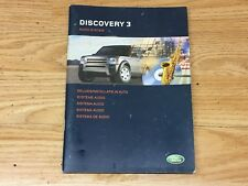 Land Rover Discovery 3 TDV6 S 2.7 05 Radio & CD Instruction Manual For VUX50043