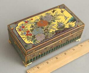 Antique Early 20thC Japanese Inaba School Gold Gilt Cloisonn Box NO RESERVE