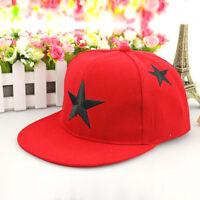 New Boy Girl Adjustable Baseball Cap Kid Star Pattern Snapback Hip-hop Child Hat