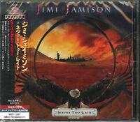 JIMI JAMISON-NEVER TOO LATE-JAPAN CD BONUS TRACK F75
